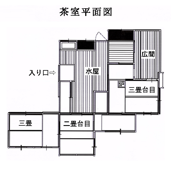 the floor plan of the Tea House