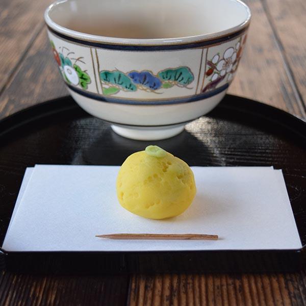 限定茶菓子 冬至 練り切り柚子