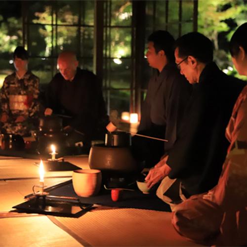 夜間ライトアップ庭園特別鑑賞プラン