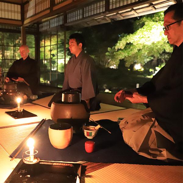 瓢亭×無鄰菴 ゴールデンウィーク特別限定 青もみじゆれる和蝋燭茶会